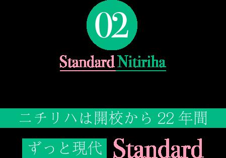 ニチリハは開校から22年間ずっと現代Standard