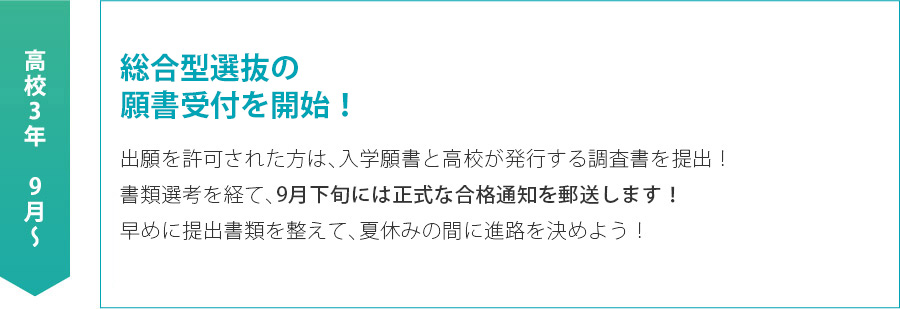 AO入試の願書受付を開始!